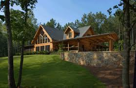 spring hope log home plan by appalachian log structures