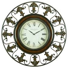 themed clock metal wall clock with flower themed border mediterranean