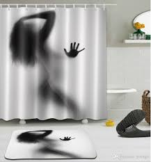 Environmentally Friendly Shower Curtain Custom Shadow Digital Printing Anti Bacterial