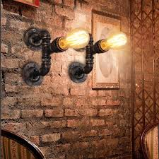 bathroom brick walls and pendant lighting with steampunk bathroom