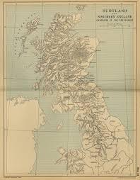 Map Scotland Of Scotland 1708