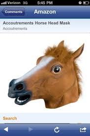 Meme Horse Head - horse photo is a mask