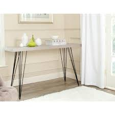 black lacquer console table safavieh wolcott gray and black console table fox4208b the home depot