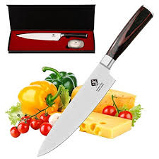 ideeland pro 8 inch chef knife with bonus odor remover high