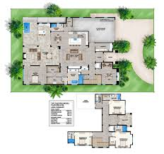Home Plans With Wrap Around Porch by Florida House Plans Houseplans Com With Courtyard Pool Hahnow