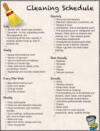 House Cleaning List Template Free Printable Cleaning Calendar And Checklist The Housewife Modern