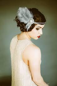 flapper headband flapper headpiece vintage inspired bridal headband the