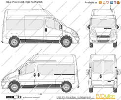 opel vivaro 2005 the blueprints com vector drawing opel vivaro lwb high roof