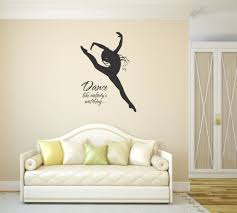 what a great idea to express your love for dance by putting such vinyl wall saying dance like nobody s watching inspirational sticker large black