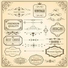 vintage ornaments and labels free vector in adobe illustrator ai