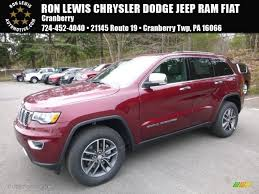 jeep grand cherokee limited 2017 red 2017 velvet red pearl jeep grand cherokee limited 4x4 119847170