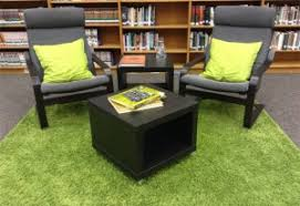 comfy library chairs students renovated this library school library journal