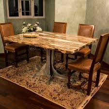 petrified wood dining table fossil wood table with glass base pieces