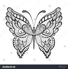 abstract decorative butterfly reminiscent of lace it is designed