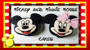 mickey mouse cake and minnie mouse cake how to make from
