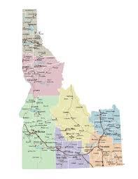 map of idaho idaho road map idaho mappery