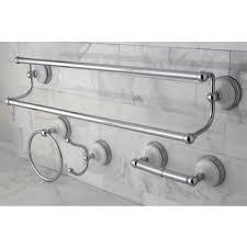 sure loc vintage chrome porcelain 4 piece bathroom accessory set