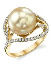 golden pearl rings images Golden south sea pearl diamond sophia ring jpg