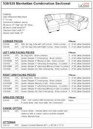Standard Seat Height 538 539 Manhattan Sectional Lacrosse Collection Lacrosse Furniture