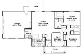 House Plans With Vaulted Great Room by Ranch House Plans Kettering 30 441 Associated Designs