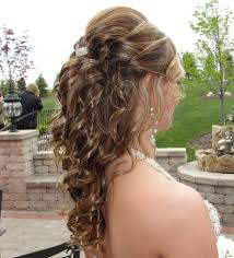 hairstyle half up half down for medium hair wedding hairstyle for