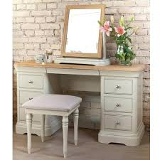 Vintage Style Vanity Table Antique Style Dressing Table With Vanity Mirror Stool White