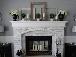 cool painted brick fireplace on the bajan texan how to paint a