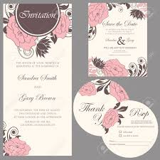wedding invitation set thank you card save the date card rsvp