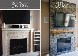 Tiled Fireplace Wall by Best 25 Faux Stone Fireplaces Ideas On Pinterest Rustic