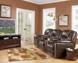 home theater seating clearance 3 piece reclining home theater group with cup holders by signature