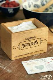 beautiful personalized recipe box by mary u0026 martha www
