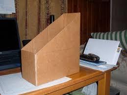 cara membuat lemari buku dari kardus bekas kotak majalah dari kardus bekas ide plus