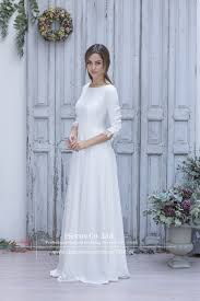long white country dresses