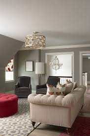 BM Owl Gray Chic Living Room Design With Pigeon Gray Walls Paint - Family room colors for the walls