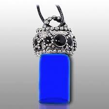 pet urn necklace blue pet urn necklace