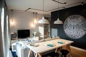 sofa esstisch wohnzimmer ideen esstisch sofa weiße ziegelsteinwand industirelle