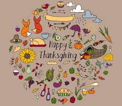 thanksgiving doodles illustrations creative market