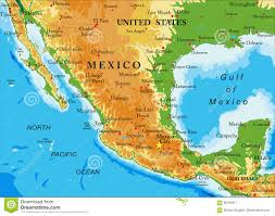 Oaxaca Mexico Map Mexico Relief Map Stock Vector Image 90105811