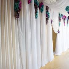 white wedding chair covers chiffon fabric roll white 40 yards draping ceiling fabric