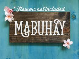 happy thanksgiving in tagalog mabuhay wood sign with no flowers wooden sign sign of