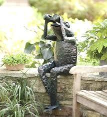 frog garden ornaments hippie frog garden figurine statue by