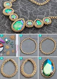 necklace stone diy images 50 easy tutorials for diy necklaces that are perfect for holiday jpg