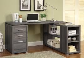 L Shaped Desk With Drawers Yvette L Shape Office Desk Weathered Grey Home Office Desks