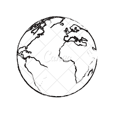 planet earth sketch icons by canva
