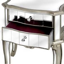 two drawer bedside table mirrored two drawer bedside table