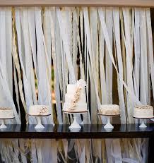 ribbon backdrop dessert table ribbon backdrop my wedding guide