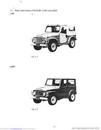 suzuki lj80 1979 1 g service workshop manual
