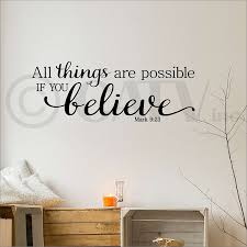 amazon com all things are possible if you believe mark 9 23