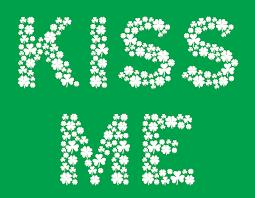 kiss me i u0027m irish t shirts spelled with shamrock clovers for st