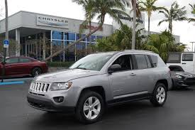 jeep crossover 2016 pre owned 2016 jeep compass sport sport utility in plantation 7035p